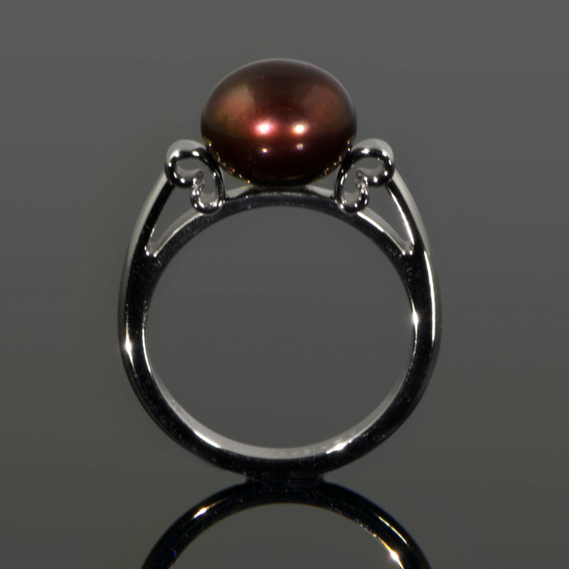 Floating Copper Pearl Ring