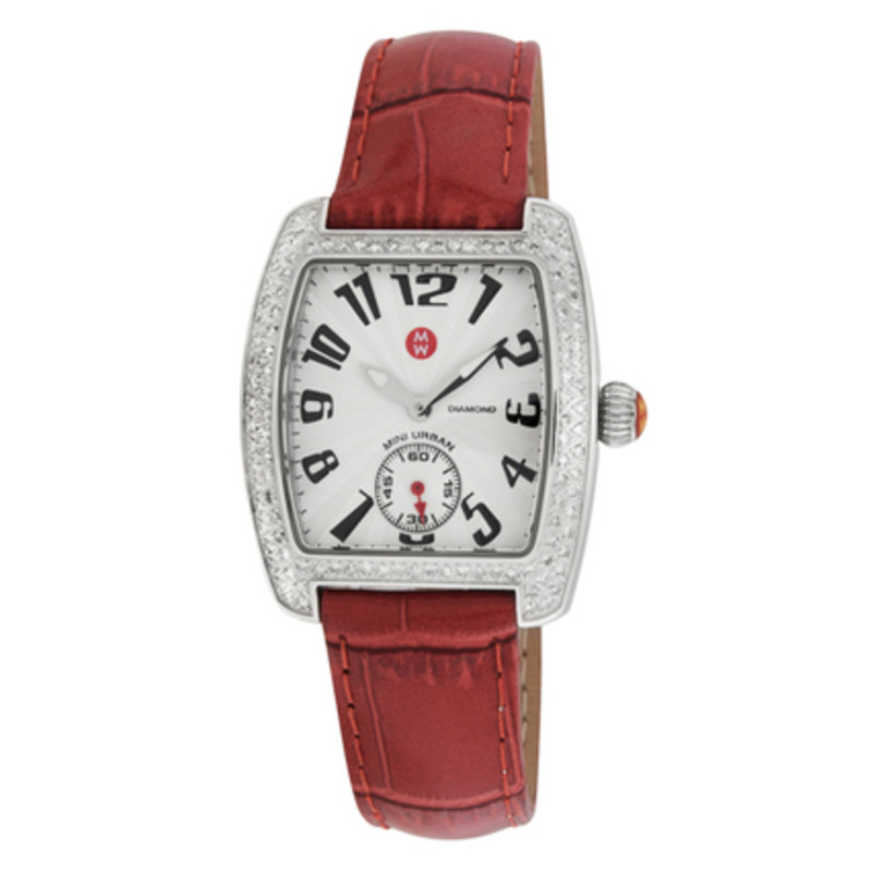 Michele Alligator Strap Watch