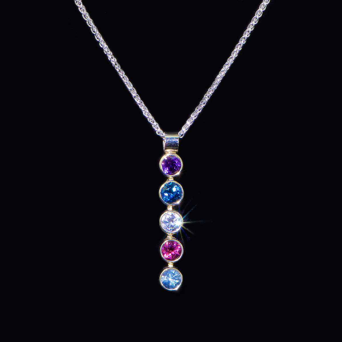 Mother's Jewelry Birthstone Necklace