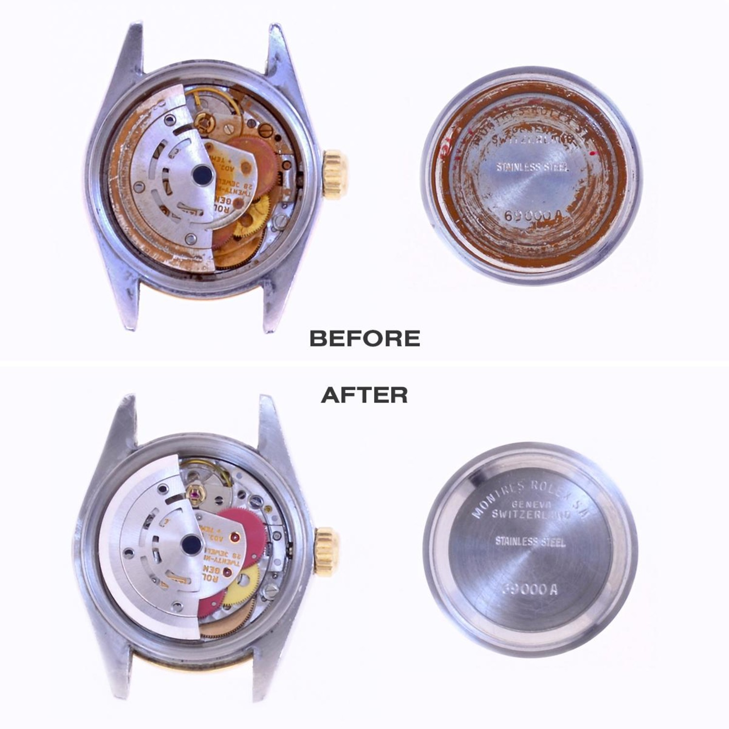 Rusted watch restored by Philippe Medawar